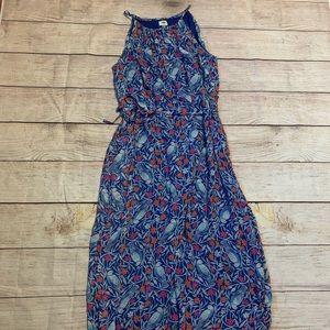 Old navy bird print maxi dress
